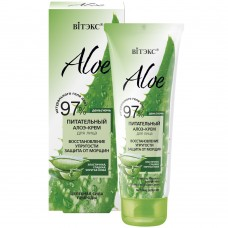 "Elasticity Recovery Anti-Wrinkle Nourishing Aloe-Cream for face ""Aloe 97%"" Vitex"