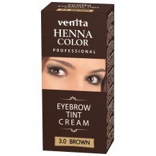 "Henna Color Professional Eyebrow Tint Cream Brown ""Venita"""