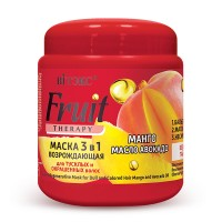 """3-in-1 Regenerative Mask for Dull and Colored Hair Mango and Avocado Oil """"Fruit Therapy"""""""