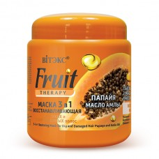 3-in-1 Restoring Mask for Dry and Damaged Hair Papaya and Amla Oil