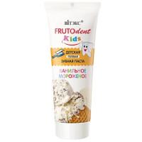 Children's gel toothpaste vanilla ice-cream without ftor
